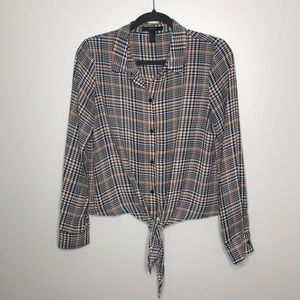F21 Houndstooth Top